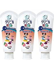日亚:LION 狮王 CLINICA kid's固齿防蛀 迪士尼 儿童牙膏 60g*3 水蜜桃味 重回新低530日元,约¥32