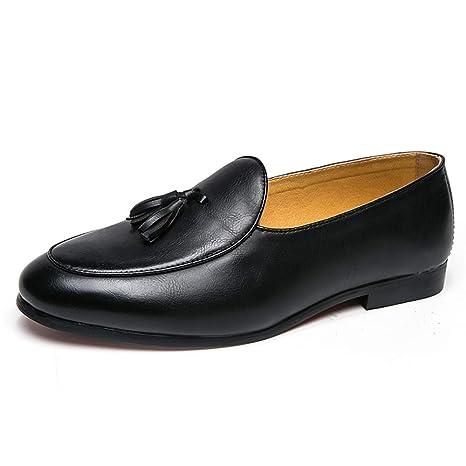 Xiazhi-shoes,, - Mocasines para Hombre Negro Negro 37 EU