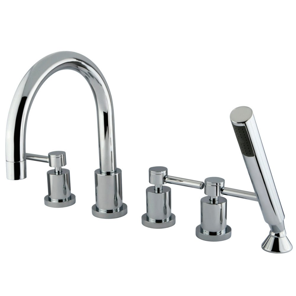 Elements of Design ES83215DL 5 Piece Roman Tub Filler With Hand Shower Chrome