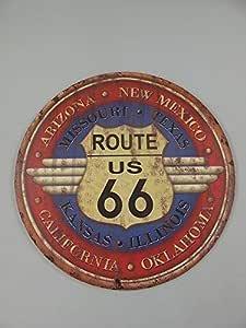 XXL Nostalgia Letrero de Metal, Ee.uu. Ruta 66 , Deportes de ...