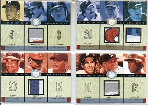 2003 Fleer Patchworks Patch Present Future Single #RP R.Palmeiro w/ Math & Alex Rodriguez Patch Card Serial #'d/200