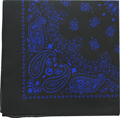 en Paisley Bandanas (Black & Royal Blue - 22