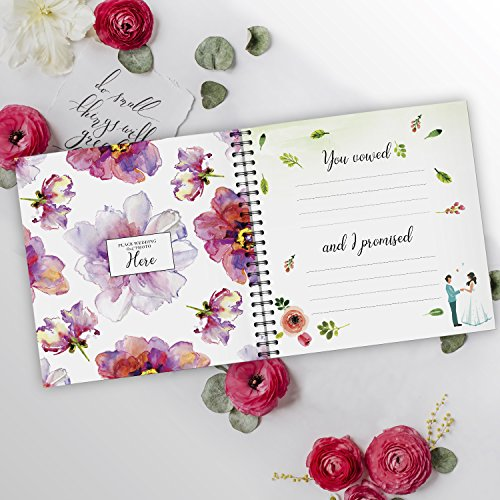 Pillow & Toast Our 1st Wedding Anniversary Journal: Memory Book & Photo Album Couples. Fill in Diary Proposal, Wedding Day Milestones. Bride Gift Ideas 2018! by Pillow & Toast (Image #5)