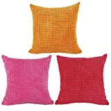 Square/Rectangle Solid Pinkycolor Printed Stuffed Cushion ChezMax Corduroy Lattice Stuffing Throw Pillow Insert For Decor Decorative Home Sofa Bedroom