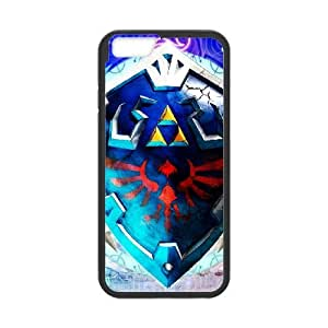High Quality Specially Designed Skin cover Case The Legend Of Zelda Skyward Sword Zelda Link Shield Hylian iPhone 6 4.7 Inch Cell Phone Case Black