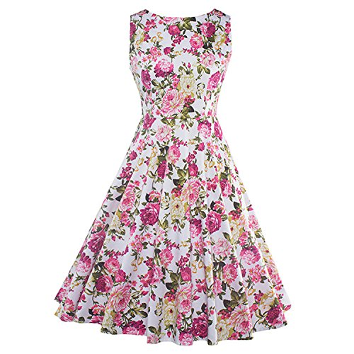 David Nadeau Vintage Dresses New Summer Style Elegant Party Dress Patchwork Sleeveless Vintage Dresses Pink (Yakima Wa Stores)