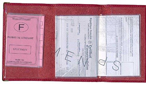 Patente Protezione Porta Di Auto Guida Grise Documenti In Custodia Blu Carte Arte Rosso Pelle SzdIq8w5