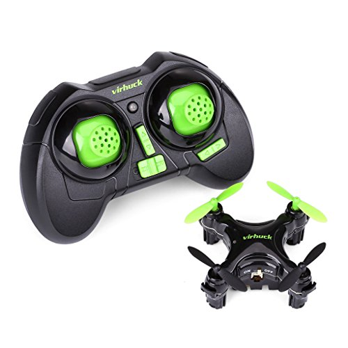Virhuck CX-10D Mini Drone RC Quadcopter, Pocket Hand Blade Nano Drone Mini Helicopters, Intelligent Fixed Altitude RC Aircraft, 3D Flip, One-Key Landing and Take Off, Black
