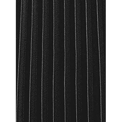 oodji Collection Women's Accordion Pleat Midi Skirt, Black, 10 at Women's Clothing store