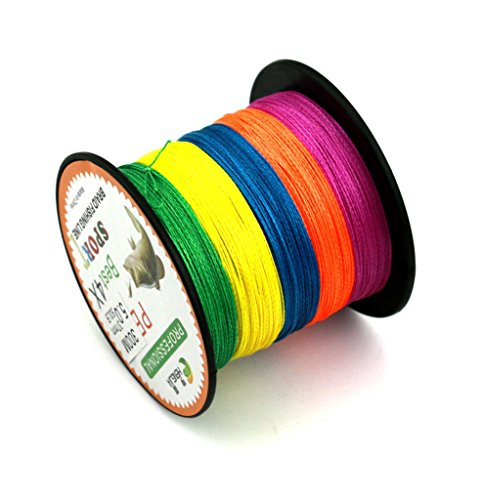 Maoko 300M/330 Yards Colorful PE 4 Braided Line / Dyneema / Superline Fishing Line Assorted Colors For Sea Fishing / Fly Fishing / Bait Casting 15-80LB (Fishing Line Ande Service Spool compare prices)