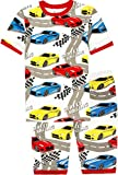 Pajamas for Boys Size 4t Car Summer Cotton Sleepwear for Kids 2 Piece Short Sets