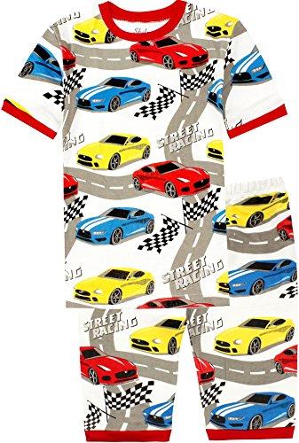 7e0924944a62 shelry Pajamas for Boys Car Cartoon Summer Cotton Sleepwear for Kids ...