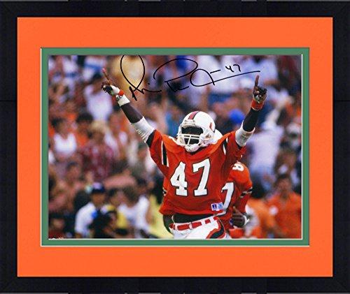 Michael Irvin Framed - Framed Michael Irvin Miami Hurricanes Autographed 8