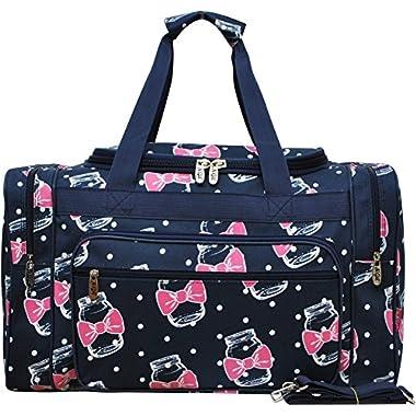 Bowtie Ribbon Mason Jar Print Carry on Shoulder 20  Duffle Bag