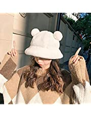 XIAOPANG Mode höst vinter leopard hink hatt björn öron boll plysch fiskare hatt mjuk varm tjock handfat hatt skydd hink hattar