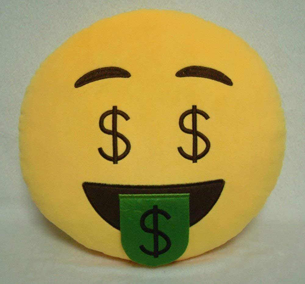 GCA 1 x Ciamlir suave con forma de emoticono amarillo cojín ...