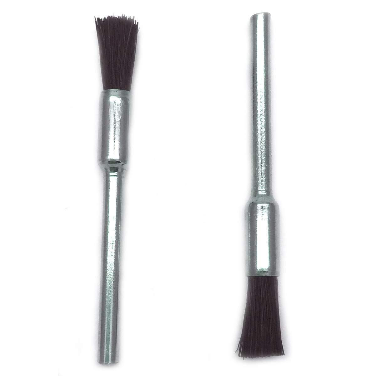 COMOK Nylon Bristle Brushes Black Pen Shape Cleaning Brushes 1//8 Shank Fit Dremel Diamond Walnut Bodhi Jade Silverware Polishing 40PCS