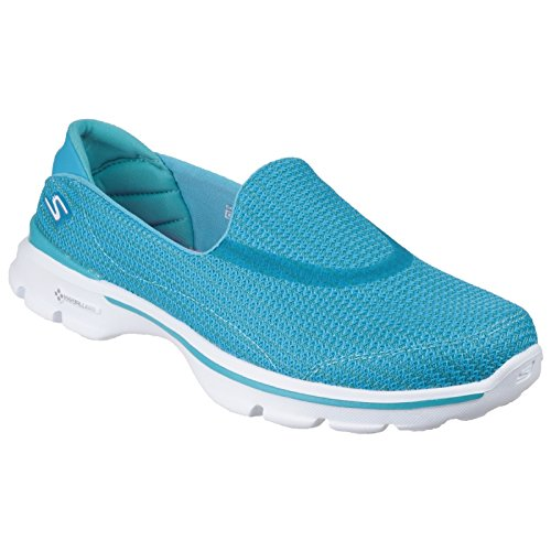 Zapatillas Skechers Mujer Turquesa 3 Walk Go q6Bt6g
