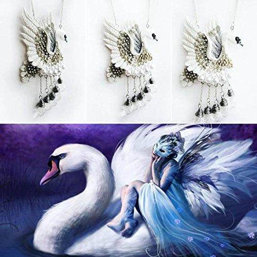 Amazon Com Swan Pendant Bird Pendant Gift Pendant Bride