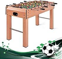 Giantex - Juego de Mesa de fútbol de 122 cm, tamaño de competición, Resistente Pub Arcade Sala de Juegos, Interior, Ocio, fútbol, Deportes, Marco de Madera de pie, Mesa de futbolín con