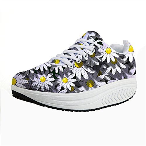 Knuffels Idee Hugsidea Bloemen Mode Dames Shape Ups Schoenen Fitness Sneakers Bloemen 3