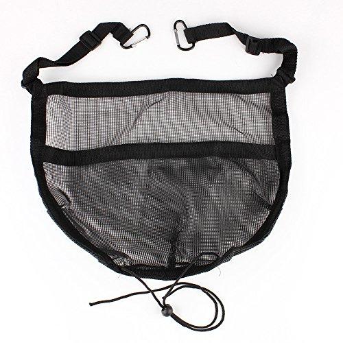 Auto Rücksitz Organizer Netz Tasche mit Klebeband für Autositz Aufbewahrung Ablage mit Haken 40x35cm