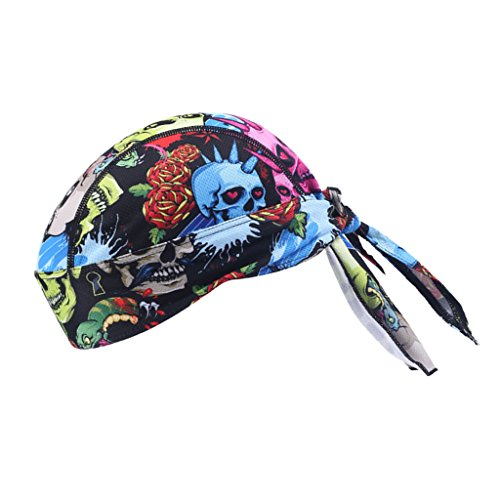 Price comparison product image Flameer Motorcycle Biker Outdoor Sport Scarf / Quick-dry Bandanas Windproof Cycling Skull Cap Hat Sweatband Outdoor Head Wraps - EO01