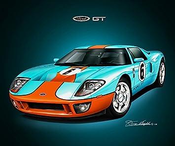 Amazon Com 2006 Ford Gt Heritage Racing Edition Art Print