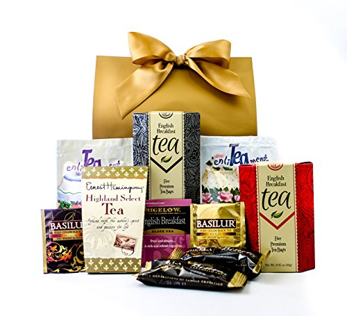 Gourmet Tea Lovers Gift Purse With Bow By Gifts Unlimited by Gifts Unlimited