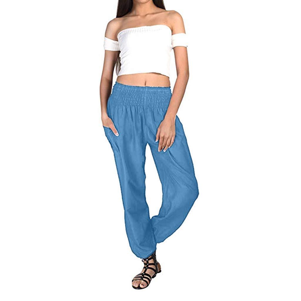yoyorule Fashion Sports Clothes Adult Bohemian Harem Loose Yoga Travel Lounge Festival Beach Pants