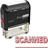SCANNED Self Inking Rubber Stamp - Red Ink (ExcelMark A1539)