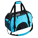 """Pettom Pet Carrier for Dogs & Cats Comfort Airline Approved Travel Tote Soft Sided Bag for Pets below 15 lbs 19"""" L x 10"""" W x 13"""" H"""