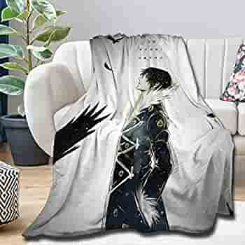 60x50 INCH for Teen The Ultimate Hope Makoto Naegi Anime Manga Throw Blanket Quilt Bedspread Soft Plush Flannel for Couch Bed Living Room Sofa Decor Camping for Spring//Summer//Autumn