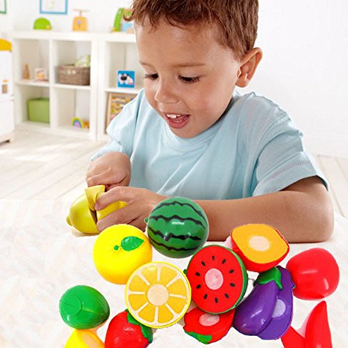 1Set Cutting Fruit Vegetable Pretend Play Children Kid