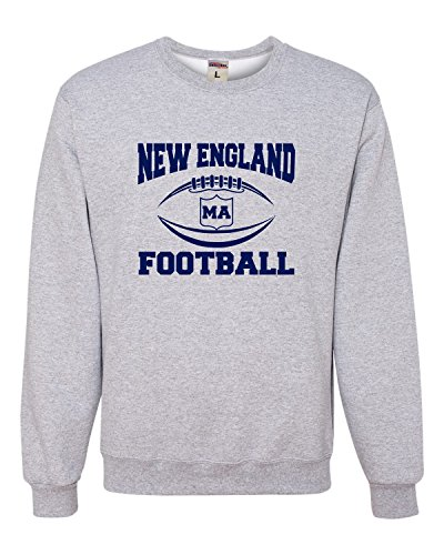 Small Athletic Heather Adult New England Football Sweatshirt Crewneck