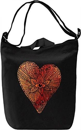 Heart Eye Borsa Giornaliera Canvas Canvas Day Bag| 100% Premium Cotton Canvas| DTG Printing|