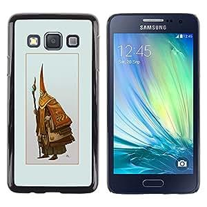 EJOY---Cubierta de la caja de protección la piel dura para el ** Samsung Galaxy A3 ** --Asistente Viejo