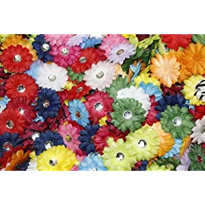 """(100) in a Bag Soft Mini Daisy Flowers~2"""" 2 Inch Small Flowers Great for Craft Projects"""