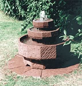 Emilio I de obra y piedra con bombín jardín de fuente juego de agua de la fuente de piedra o de roca de la fuente: Amazon.es: Hogar