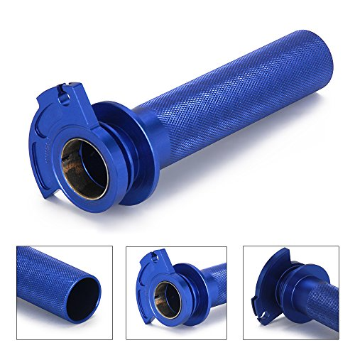 Billet Aluminum Throttle Tube - JFG RACING Blue CNC Aluminum Billet Anodised Lever Control Twister Throttle Handle Tube For YAMAHA YZ125 YZ250 96-14 SUZUKI RM250 95-05 RM125 95-07 KAWASAKI KX125 92-05 KX250 92-07