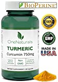 Turmeric Curcumin Supplement (750mg, Veggie Capsules) with BioPerine for Max Absorption, Bioavailibility – for Anti-Inflammation, Arthritis Joint Pain, Discomfort Review