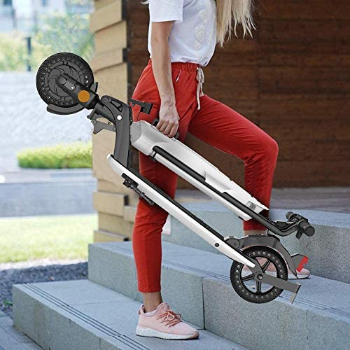 Kugoo Trotinette Electrique, E-Scooter Adulte, Moteur sans balais 300 W, Longue portée de 25 km, Scooter pneumatique de 8 Pouces avec siège, féminin Scooter E-Commute