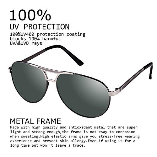 Verde Gafas de para con polarizadas 400 sol UV hombre Kennifer protección Ovfdxq6v