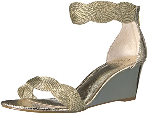 Adrianna Papell Women's Adelaide Wedge Sandal, Platino, 7.5 M US by Adrianna Papell