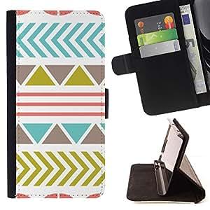 For Sony Xperia M5 E5603 E5606 E5653 Case , Patrón de oliva trullo abstracto rosado- la tarjeta de Crédito Slots PU Funda de cuero Monedero caso cubierta de piel