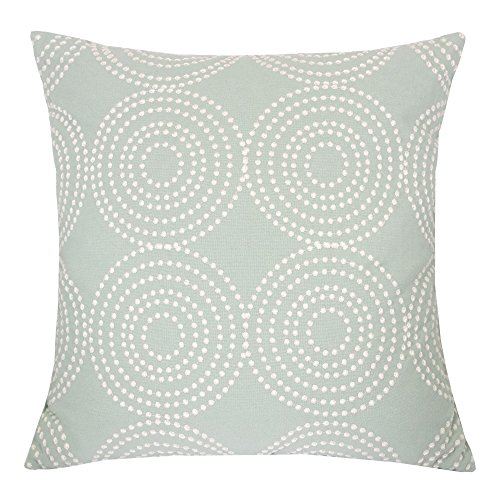 - Homey Cozy Embroidery Cotton Throw Pillow Cover,Sea Spray Decorative Square Couch Cushion Pillow Case 20 x 20 Inch, Cover Only
