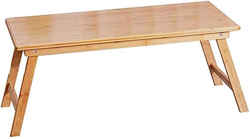 Muebles y Accesorios de jardín Mesa pequeña Mesa de Centro Plegable Mesa de té for Apartamentos pequeños Mesa de Estudio de Tatami de bambú Mesa de Cama Japonesa Mesas: Amazon.es: Hogar