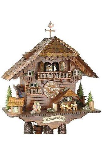 Original reloj de madera Schwarzwälder uhrenfabrik kammerer, mecánico 8-días unidad de disco con