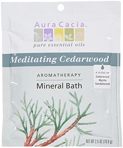 (Aura Cacia Aromatherapy Mineral Baths - Meditating Cedarwood- 2.5 oz)
