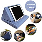 Tablet Pillow Holder,Bagvhandbagro Mini Tablet Holder Sofa Reading Stand,Self Standing Or Use on Lap, Bed, Sofa, Couch,for Galaxy And IPad.Color Blue
